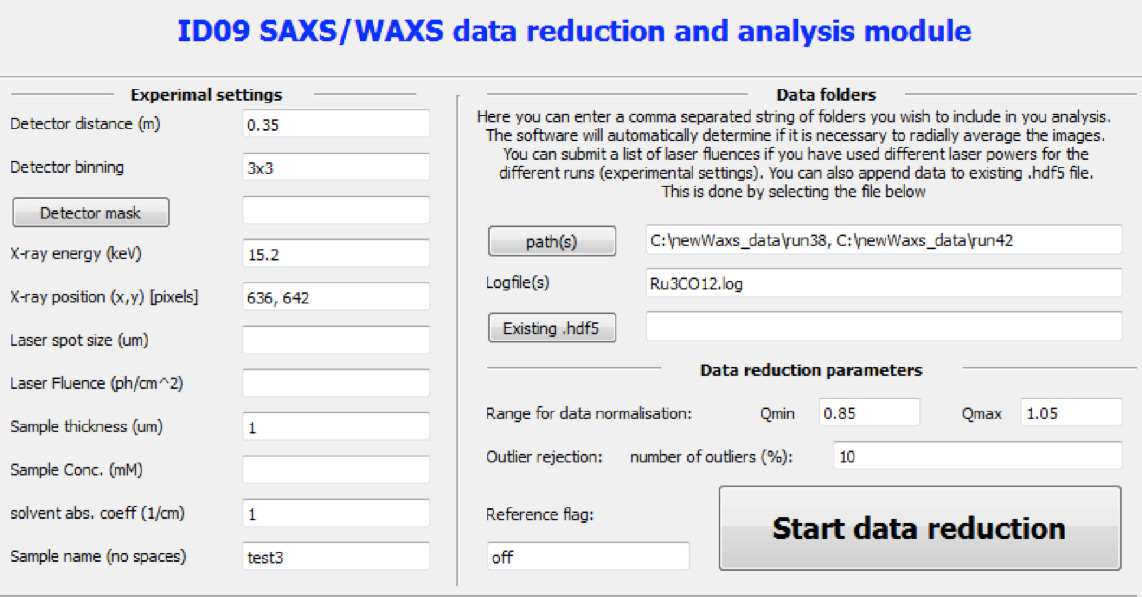 WAXSGUI, suite of software, software, time-resolved WAXS, WAXS, data incorporating, molecular dynamics simulations